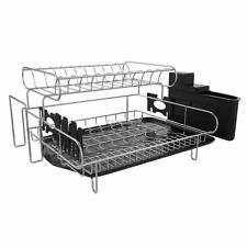 304 Stainless Steel Professional 2 Tier Dish Drying Drainer Rack Large ER99