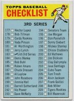 1966 Topps #183A Checklist Near Mint 3rd Series FREE SHIPPING