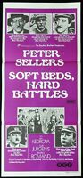 SOFT BEDS AND HARD BATTLES Original Daybill Movie Poster Peter Sellers