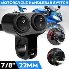 "Motorcycle ATV Handlebar Dual Button Switch 7/8"" For Headlight Spot Fog Light"