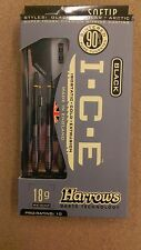Harrows Black I.C.E 18g Soft Tip Darts 90% Tungsten 54332 w/ FREE Shipping
