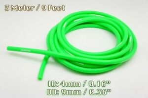 3 METRE GREEN SILICONE VACUUM HOSE AIR ENGINE BAY DRESS UP 4MM FIT SUPERCAR