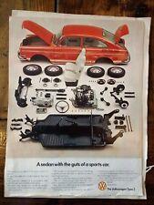 8 Vintage VW Volkswagen Ad Advertisement Beetle Bug 1970s 60s Lot Bus