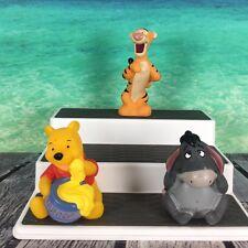 Disney Winnie The Pooh Set Of (3) Soft Vinyl Figures Eeyore Winnie Tigger