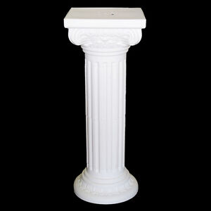 Tall Pedestal Roman Plastic Pillars Columns, White, 36-Inch