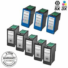 8pk Lexmark 36XL 37XL BLACK & COLOR HY Ink Cartridge for X3650 X4650 X5650 36 37