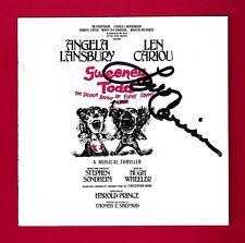 "Len Cariou (Signed) ""SWEENEY TODD"" Angela Lansbury / Sondheim 1979 CD Booklet"