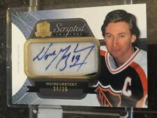 11-12 The Cup WAYNE GRETZKY Scripted Swatches Patch Auto 34/35 WOW!!