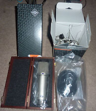 Neumann U 87 Ai Condenser Microphone Studio Set, Nickel Used