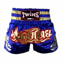 Twins Special Muay Thai Shorts - Blue/Gold T-152