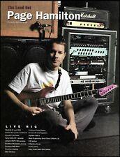 Helmet Page Hamilton Live Rig Marshall Amp ESP Guitar 1995 pin-up photo print