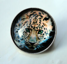 ZPs2 Unusual Domed Leopard Pin Badge Brooch Cabochon