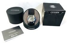 New Citizen AW1151-04E AR 2.0 Men's Black Eco-Drive Wrist Watch Stainless Steel