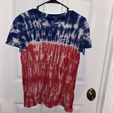American Eagle Tie Die Usa T Shirt Red White And Blue Flag sz Xs Short Sleeve
