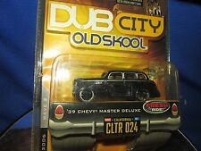 39 chevy dub city master deluxe old skool black school slammed jada 1/64