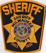 Milwaukee County  Sheriff  black backround WIS Wisconsin Patch