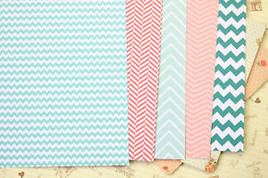 Watermelon Chevron scrapbooking paper pastel zigzag craft 250gsm fancy cardstock