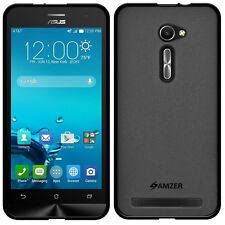 Amzer Pudding Matte TPU Skin Case Back Cover For Asus Zenfone 2 ZE500CL - Black