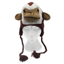 Divertente Scimmia Fatto a Mano Inverno Lana Animale Cappello Fodera in Pile Taglia unica, unisex