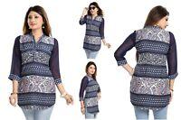 UK STOCK - Women Fashion Indian Kurti Tunic Shirt Dress SC328A