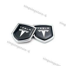 2x Car Body Rear Metal Emblems Styling Logo Stickers Decal Side Badge For Tesla