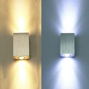 Modern 6W Led Wandlampe Wandleuchte up down Wandstrahler Flurlampe Innen Leuchte