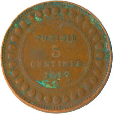 COIN / FRENCH TUNISIA / 5 CENTIMES 1917    #WT6394