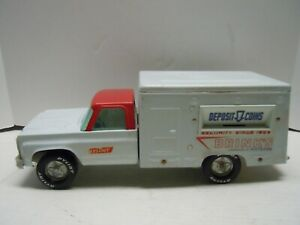 1960's TONKA NYLINT CHEVY  BRINKS COIN BANK TRUCK -VINTAGE-RARE  NO RESERVE