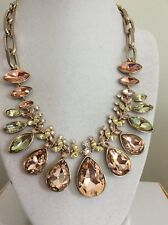 $375Givenchy Jonquil Crystal Statement Necklace 200B