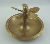 Rare old bronze propeller ashtray similar to Queen Mary ashtray - signed