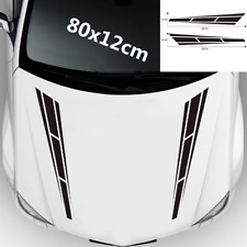 1 Pair 80cm Racing Vinyl Decals Stickers Car Black Stripe Sport Hood Auto Bonnet