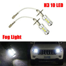 2x H3 5630 SMD 10 LED Bulbs XENON White 6000K Car Fog Light Lamp 12V Quality UK