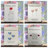 Wedding Invitations / Evening Invites Personalised & Handmade with Envelopes