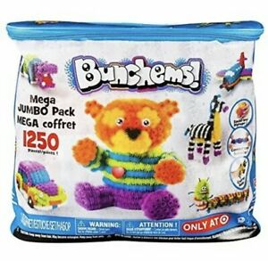 Bunchems Mega Jumbo Pack 1250 Count Creative Crafting Building Kids Toy