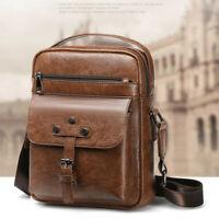 Men's Leather Messenger Shoulder Bag Business Briefcase Handbag Travel  HOT !