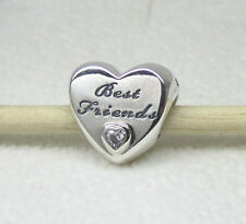 Authentic Pandora #791727CZ Friendship Heart Bead