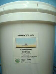 30 Lbs. Bulk Organic Hard Red Winter Wheat Berries, Non-GMO, Nebraska-grown