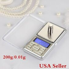 200g/0.01g Digital Electronic Pocket Scale Jewelry Gold Coin Weight Balance USA