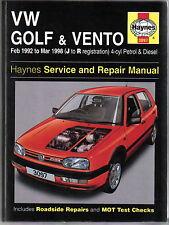 VW Volkswagen Golf & Vento 4-cyl Petrol & Diesel 1992-98 Haynes Repair Manual