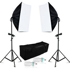 1250W ECHT Fotostudio Softbox Studioleuchte Set 10cm 4420Lumen 5500K Fotolampe