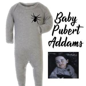 Baby Pubert Addams Family Costume Spider Grow Romper Bodysuit Halloween Adams
