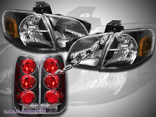 1997-2004 Chevy Venture /Silhouette Headlights + Tail Lights Black Combo