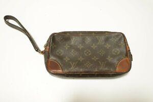 Authentic Louis Vuitton  Monogram Marly Dragonne PM Clutch Bag #8946