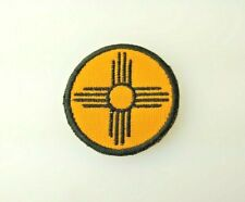 """Zia NM State Embroidered Patch Black Yellow Small 2.25"""""""