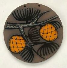 Astrid Tjalk for Frybo (Denmark) Decorative Ceramic Tile, Pine Cones