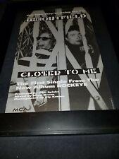 The Outfield Closer To Me Rare Original Radio Promo Poster Ad Framed! #4