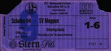 Ticket II. BL 88/89 FC Schalke 04 - SV Meppen, Stehplatz Nordkurve