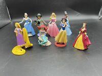 Disney Princess Plastic PVC Figurine Toys Figures Lot Of 8 - See Pics