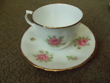 Vintage Jason Bone China England Floral Cup and Saucer J.595