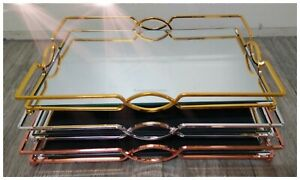 LUX Mirror Tray Stand Set Gold Silver Rose Gold Cake Desert Wedding Serving